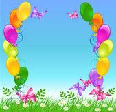 Balloons in the sky — Stockvector
