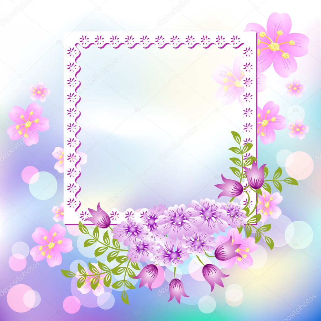 1024 x 1024 · 305 kB · jpeg, Page layout postcard with flowers for ...