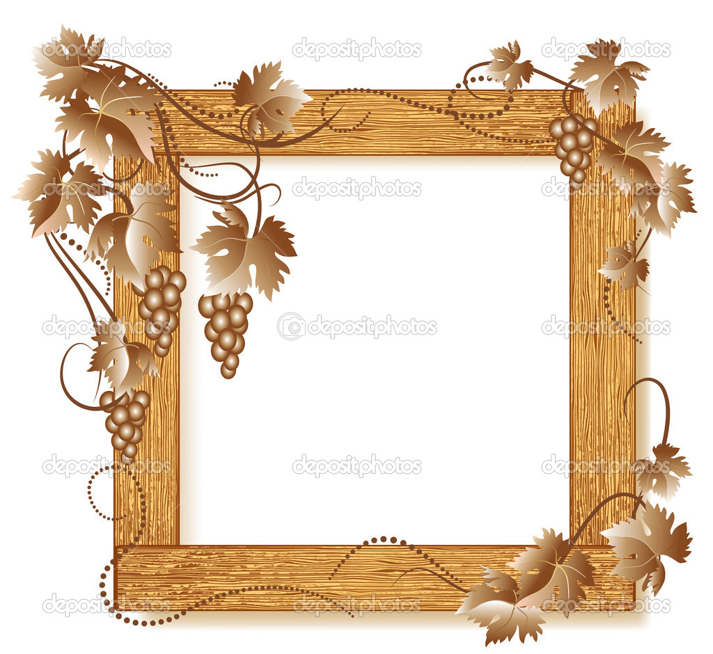 Wood photo frame vector Info ~ San Plans
