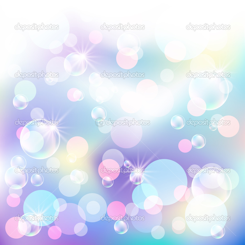 Glowing bokeh, bubbles and stars — Stock Vector #5657383