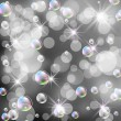 Bokeh, bubbles and stars — Stock Photo