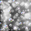 Stock Photo: Bokeh, bubbles and stars