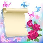 Schuiven en in-rozen — Stockvector