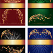 Royalty-Free Stock Imagen vectorial: Set of backgrounds with golden ornament