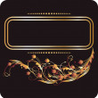 Background with golden ornament — Vector de stock #5954391