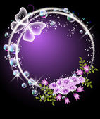 Pęcherzyki, kwiatów i motyli — Wektor stockowy