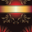 Background with golden ornament - Vektorgrafik