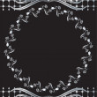 Background with silver ornament - Vektorgrafik
