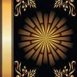 Background with golden ornament -  