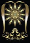 фон с золотистым орнаментом — Cтоковый вектор