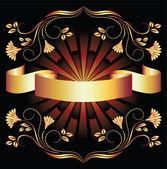 Fond avec ornement doré — Vecteur