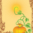 Harvest in the garden — Imagen vectorial