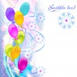 Christmas background with ballons — Stock Vector