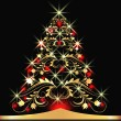 Christmas fur-tree — Vector de stock #6051190