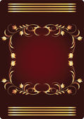 Background with golden ornament — Vettoriale Stock