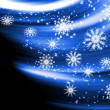 Glowing background with snowflakes — Foto Stock