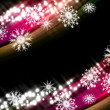 Abstract glowing background with snowflakes - Foto Stock