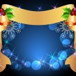 Royalty-Free Stock Vector Image: Christmas background with golden ribbon