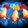 Christmas background with bells — Image vectorielle