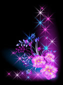 Flowers and stars — Stock Vector