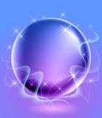 Fond incandescent avec sphère — Vecteur