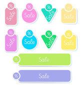 Set vector stickers — Stock Vector
