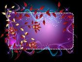 Fond lumineux avec la fumée, des étoiles et des ornement doré — Vecteur