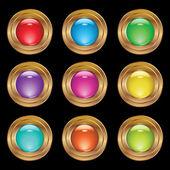 Conjunto de botones — Vector de stock