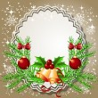 Christmas background with frame — Image vectorielle