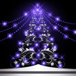 Wektor stockowy : Christmas silver fur-tree
