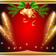 Christmas background with salute and bells - Stock vektor