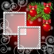 Christmas background with photo frame - Vettoriali Stock