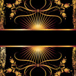 Black background with luxurious golden ornament. — Stock Vector #6101124