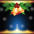 Christmas background with bells - Stock vektor