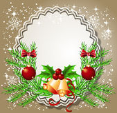 Christmas background with frame — Stock Vector