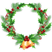 Christmas decorative wreath — Stock Vector
