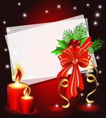 Jul bakgrund med ljus — Stockvektor