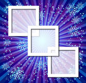 Christmas background with photo frame — Stock Vector