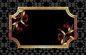 Hintergrund mit goldenen ornament — Stockvektor