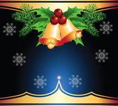 圣诞背景与响铃 — 图库矢量图片
