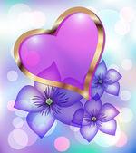 Coração decorativo — Vetor de Stock