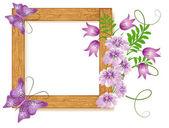 Diseño de marcos de madera — Vector de stock