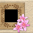 Royalty-Free Stock Photo: Wooden framework and lily