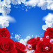 Sky and roses - Stock Photo
