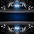 Background with silver ornament — Vettoriali Stock