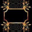 Background with golden ornament - Imagen vectorial