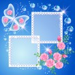 Royalty-Free Stock Vector Image: Background with photo frame and butterfly