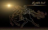 Golden horse — Stock Vector