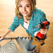 Stock Photo: Woman carpenter