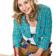 Woman carpenter — Stock Photo